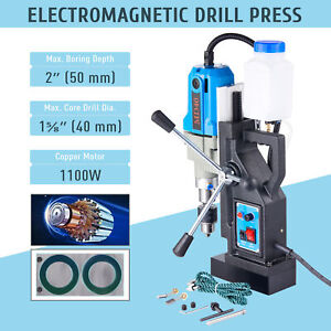 1 5hp Electric Magnetic Drill Press Bores Up To 2 depth 1 6 boring Diameter