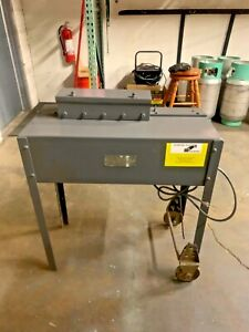 Used 24 Gauge Portable Lockformer Pittsburgh Machine With Stand