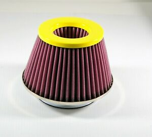 Yellow 5 Inlet Cone Air Intake Filter 5 5 Tall 7 Base 4 75 Top Truck Maf