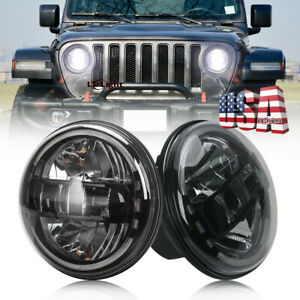 Newest 2pc 7 Round Led Halo Headlights Hi lo For Ford B 100 F 250 F 350 Mustang
