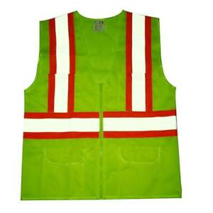 High Visibility Reflective Safety Vest Stripes Traffic Warehouse Security