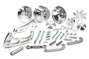 March Performance Aluminum Big Block Chevy Serpentine Ultra Pulley Kit P n 23020