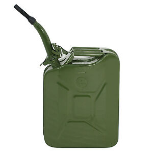 5 Gallon Gal Backup Steel Tank Jerry Can 20l Liter Fuel Gas Gasoline Green