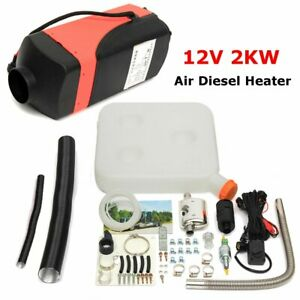 12v 2kw Air Diesel Fuel Heater 2000w 1 Hole For Car Bus Trucks Motor Home Boats