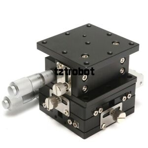 Xyz 3axis Linear Stage Trimming Platform Bearing Tuning Sliding Table 60x60mm Us