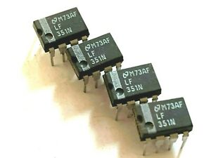 4 Pieces Lf351n High Speed J fet Op amp I c National Semiconductor nsc