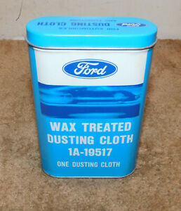 1966 1972 Ford Mustang Shelby Mercury Cougar Nos Wax Treated Dusting Cloth Tin
