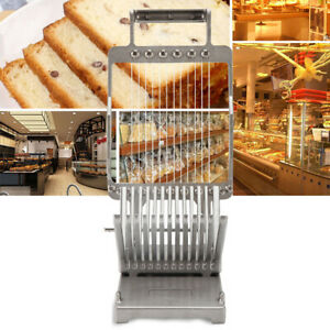 Commercial Cheese Bread Slicer 1 2cm Stainless Steel Kitchen Cooking Cutter Tool