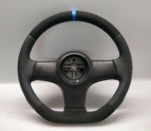 Ford Sierra Coswort Leather Steering Wheel Rs Escort Ghia Retro Flat