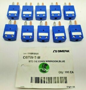 10 Each Omega Ostw t m T type Thermocouple Connector
