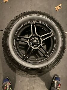 4 235 65r 17 Bridgestone Blizzak Ws80 Sl Winter Tires With Black Rims And Tpms