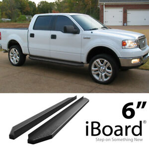 Iboard Black Running Boards Style Fit 04 08 Ford F150 Supercrew Cab