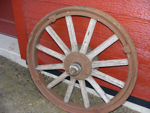 Original Ford Model T Wooden Spoke Wheel Rim Garage Decor