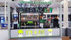 Kiosk For Sale Mall Kiosk 14 x15 Food Or Retail Use Used For Smoothies