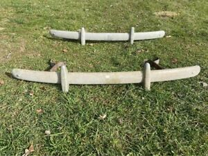 1940 s Ford Coupe Sedan Front And Rear Bumpers Original