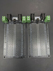 Black Pcb Solderable Breadboards For Prototyping panel Of 2 assembly Required