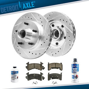 267mm Front Drilled Brake Rotor Ceramic Pad Chevy S10 Blazer Monte Carlo S10 Llv
