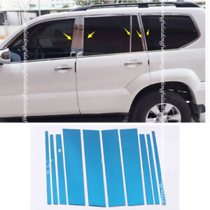 For Toyota Lc Prado Fj120 2003 2009 Chrome Steel Middle Window Pillar Cover Trim