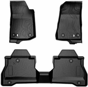 For 2020 Jeep Gladiator Jt All Weather Slush Floor Mats Front Rear Row Set
