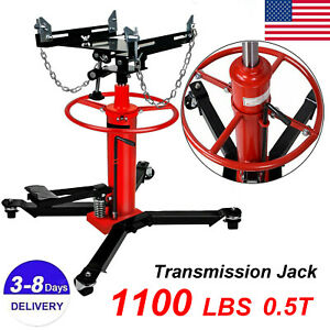 1660lbs 0 75 Ton Transmission Jack 2 Stage Hydraulic W 360 For Car Auto Lift S