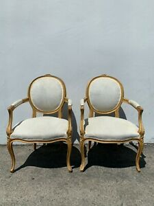 Pair Of Louis Chairs Armchairs Balloon Louis Xvi Country French Provincial