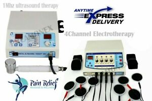 Pro ultrasound Therapy 1mhz Electrotherapy 4ch Therapy Combo Pulse Frequency