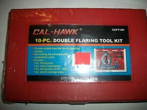 Cal hawk 10 Piece Brake And Other Double Flaring Tool Set repair Kit p n Czft10p
