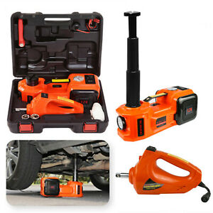 12v 5 Ton Car Jack Electric Hydraulic Floor Jack impact Wrench Tire Repair Tool
