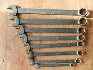 Snap On Tools 12 Point Sae Combination Industrial Finish Wrench Set 8 Pc Usa
