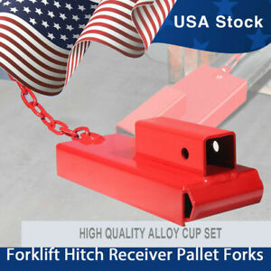 Forklift Receiver Hitch Trailer Towing Adapter 2 Pallet Fork Quick Attach Hitch