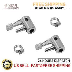 Two Lock On Tire Inflator Locking Air Chuck Air Hose Attachment 1 4 For Bike Car