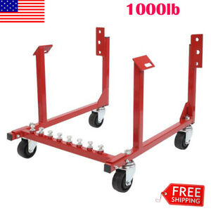 1000lb Auto Engine Cradle Stand W Wheels For Chevy Chevrolet Dolly Mover Repair