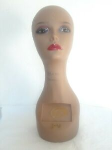 Zury Head Mannequin Display For Wig Glasses Hat Etc 17 5 Inches