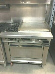 Stove Grill Flat Stove 2 Burners Oven Imperial Gas 36 X 76 H