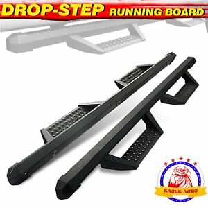For 2005 2021 Toyota Tacoma Double Cab 3 Side Step Drop Bar Running Board Bcka