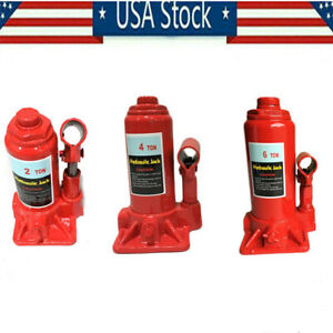 2 4 6 Ton Hydraulic Bottle Jack Heavy Duty Steel Construction Lift For Truck Bus
