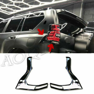 For Toyota Prado Fj150 2018 2020 Glossy Black Rear Taillight Moulding Trim Cover