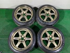 Volk Racing Rays Te37 17x8 Et38 5x100 Without Tires