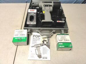 Pop Mcs5800 Rivet Gun Tool Full Set W extra Parts Working Properly See Picture