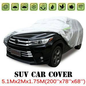 Full Car Suv Cover Waterproof Sun Uv Snow Dust Rain Resistant Protection Xl Size