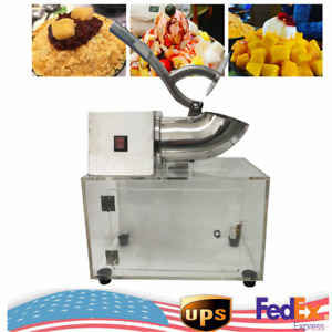 Commercial Electric Ice Crushing Machine Snow Cone Maker 200w Ice Crusher Shaver