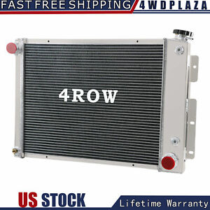 4 Row Aluminum Radiator For 1967 1969 1968 Chevy Camaro pontiac Firebird 5 7l V8