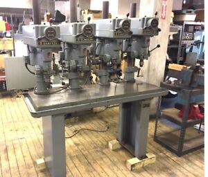 Clausing 15 Industrial Variable Speed 4 Spindle Drill Press 3 4 Hp 3 Ph 220 440