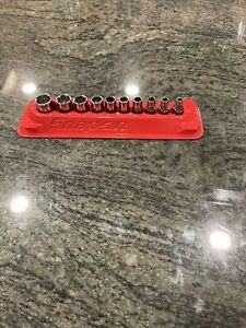 Snap On 110tmy 10 Pc 1 4 Drive 6 Point Shallow Socket Set New In Tray