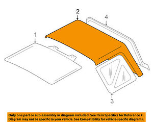 Chevrolet Gm Oem 99 01 Tracker Convertible Soft Top Folding Top 30024947