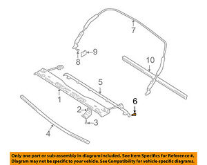 Chevrolet Gm Oem 99 03 Tracker Convertible Soft Top Seal Bolt 30027077