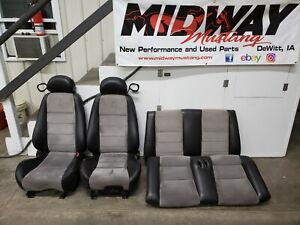 2003 2004 Mustang Cobra Grey Suede Leather Seats Convertible Oem Rare