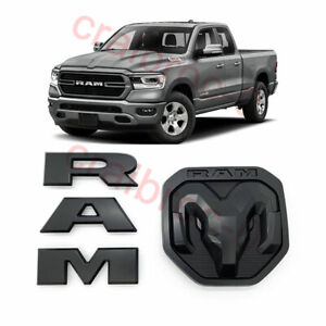 2019 2020 Black Ram Front Grille Rear Tailgate Emblem Badge For Ram1500 Mopar