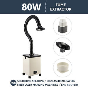 80w Fume Extractor 3 Filter Air Purifier For Laser Cutting Engraving Machines