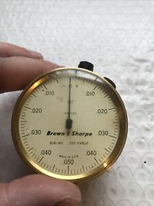 Brown And Sharpe Bestest Test Dial Indicator No 8241 611 250 Range 001